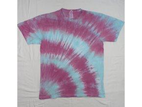 Ručně batikované bavlněné tričko Korona vel. M