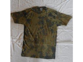 Ručně batikované bavlněné tričko Army vel. XXL
