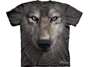 tričko, šedý vlk, 3d, potisk, dětské, mountain