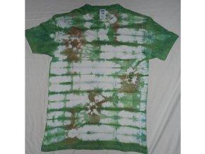 Ručně batikované bavlněné tričko Háj vel. L