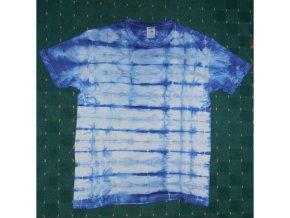 Ručně batikované bavlněné tričko Led vel. L