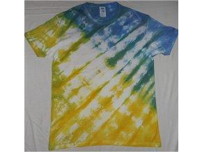 Ručně batikované bavlněné tričko Kometa vel. L