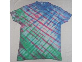 Ručně batikované bavlněné tričko Mozaika vel. L