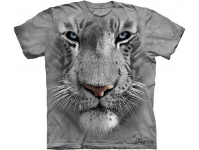 tričko, bílý tygr, 3d,  potisk, mountain, dětské
