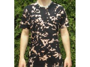 Ručně batikované bavlněné tričko Mramor vel. L