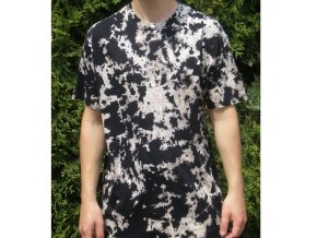 Ručně batikované bavlněné tričko Mramor reflex vel. XL