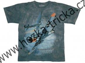 tričko, military, potisk, stíhací letadlo Messerschmitt Bf109, Erich Hartmann