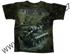 tričko, military, potisk, tank Tiger, Michael Wittmann, operace Citadela