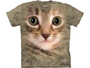 tričko, kočka žíhaná, 3d, potisk, batikované, mountain