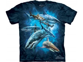 tričko, žralok, dětské, hlad, mountain, potisk