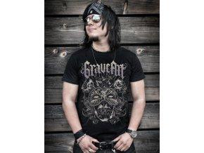 tričko, maska, rockové, horor, potisk