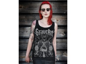 graveart scythe damen tank top lang schwarz metalshirt gothic shirt horror shirt independent fashion 52530