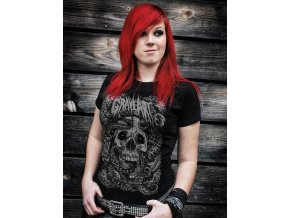 graveart rising tide girlie shirt schwarz metalshirt gothic shirt horror shirt independent fashion 52526