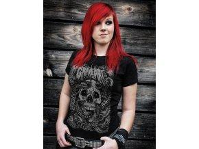 dámské tričko-metalové-potisk-chobotnice-lebky