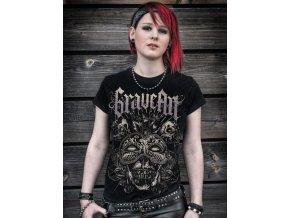 graveart masquerade gilrie shirt schwarz metalshirt gothic shirt horror shirt independent fashion 52522