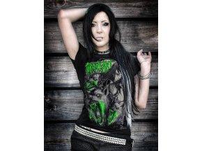 dámské metalové tričko dívka a vlkodlak