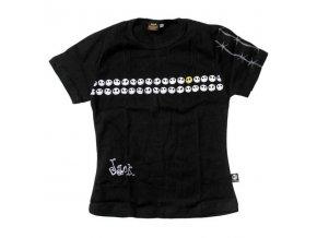 Dámské bavlněné tričko s potiskem Venom smajlíků