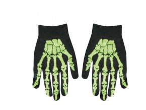 gloves in black with green skeleton hand 2,50 9