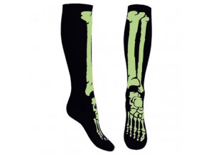 knee socks in black with green skeleton feet 2,90 9