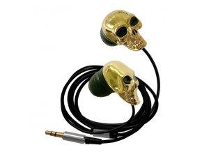 Sluchátka Zlatá lebka
