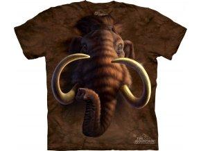 tričko, mamut, batikované, potisk, mountain, dětské