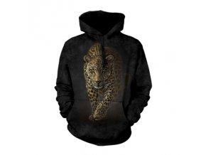 mikina s potiskem leoparda