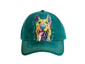 basebolka s pastýřským psem