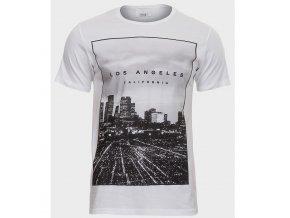 pánské, bílé, levné, tričko, potisk, Los Angeles