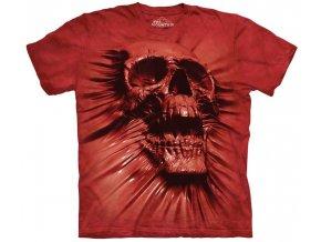 tričko-lebka-krev-potisk-batikované-mountain