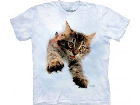 tričko, dětské, kočka, kotě, mountain, potisk