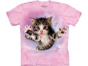 tričko-kočka-hravé kotě-potisk-batikované-mountain