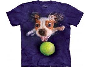tričko-pes-štěně-batikované- potisk-tenisák