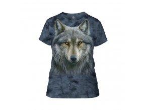 dámské tričko-batikované-bavlněné-potisk-vlk-mountain