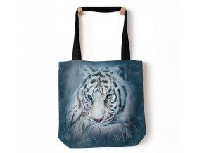 nákupní šitá taška, bílý tygr, the mountain, potisk, americká