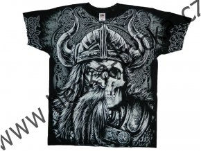 tričko, potisk, viking, lebka, sekera, Thorovo kladivo