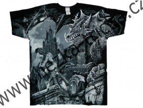 tričko, potisk, viking, zabiják, drak, sekery