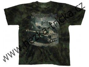 tričko, military, potisk, tank Jagdpanther, stíhač, Legend