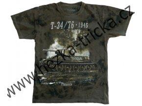 tričko, military, potisk, tank T34, Pommern, 2 světová válka