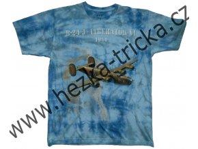 tričko, military, potisk, bombardér, Liberator, Anglie 1944
