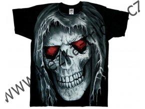 tričko, potisk, démon, lebky, hřbitov, meč