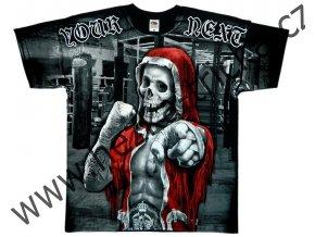 MMA tričko s celoplošným potiskem bojovníka v ringu
