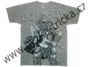 tričko, potisk, viking, Berserk, drakar, sekera