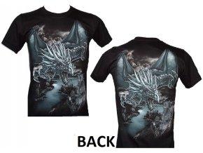 tričko, drak, fantasy, rock eagle, svítící, fluorescenční potisk