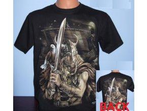 tričko, viking, meč, drakar, svítící, fluorescenční potisk