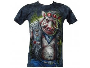 tričko, kanec, divočák, vtipné, metalové, horor