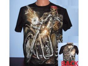 tričko, gangster, chopper, motorka, svítící, fluorescenční potisk