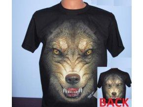 tričko, vlk, černé, rock eagle, svítící, fluorescenční potisk