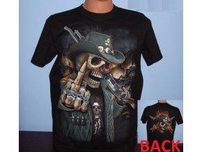 tričko, kovboj, fakáč, střelec, western, lebka