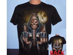 tričko, lebka, kostlivec, smrt, metalové, horor