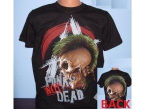 tričko, punk, lebka, číro, pankáč, černé